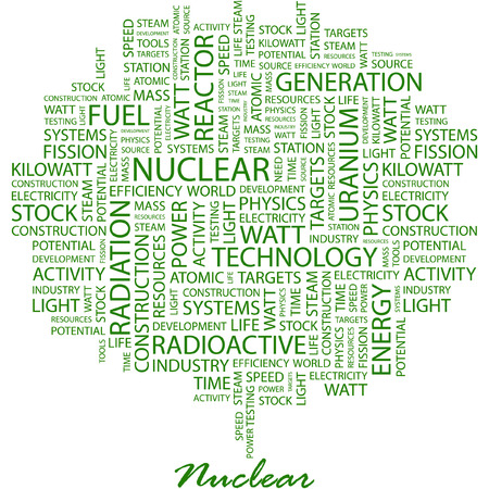 NUCLEAR. Illustration with different association terms in white background. Stock Vector - 7170207