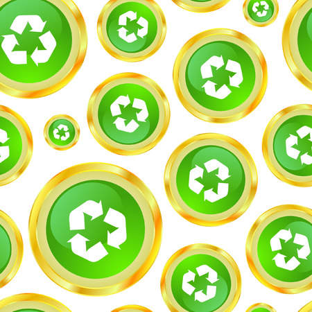 Seamless pattern with recycle symbol Stock Vector - 7168187