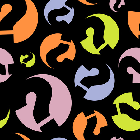 Seamless background with question signs Vector