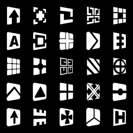 Collection of different graphic elements for design.   Vector