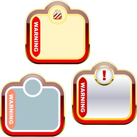 Warning label set. Stock Vector - 7177951