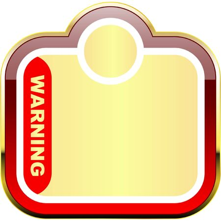 Warning label template.    Vector