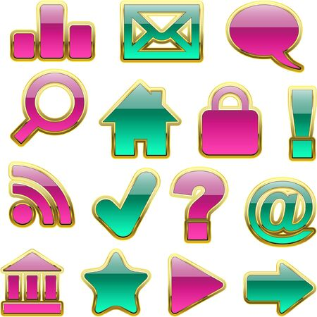 activacion: conjunto de iconos hermoso