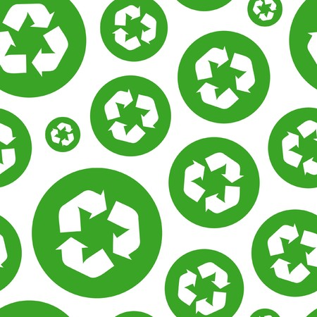Seamless recycle background Vector
