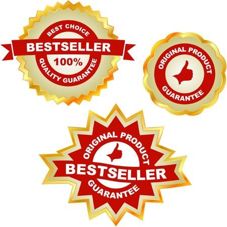 guaranree: Bestseller emblem set Illustration