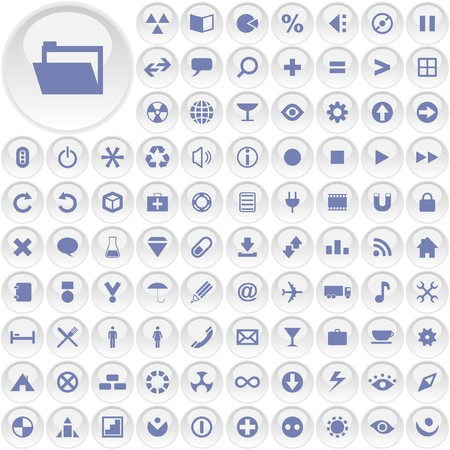 Vector great collection of web buttons. Stock Vector - 7212992