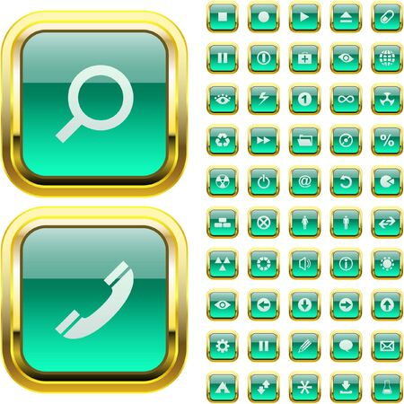 collection of web buttons   Vector