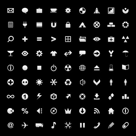 Vector collection of web icons Stock Vector - 7246767