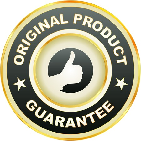 best products: guarantee label.   Illustration