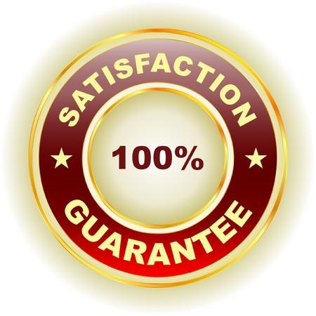 percent sign: guarantee label.   Illustration