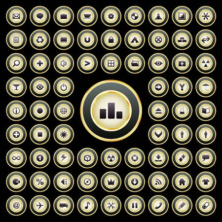 collection of web buttons Stock Vector - 7243253