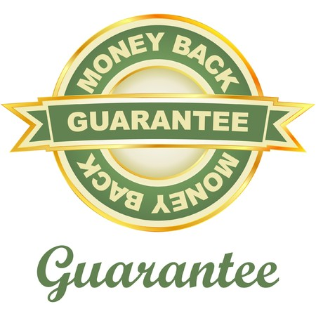 guarantee label.   Vector