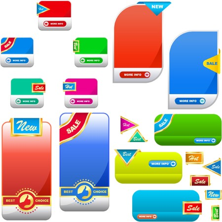 collection of sale banners   Vector