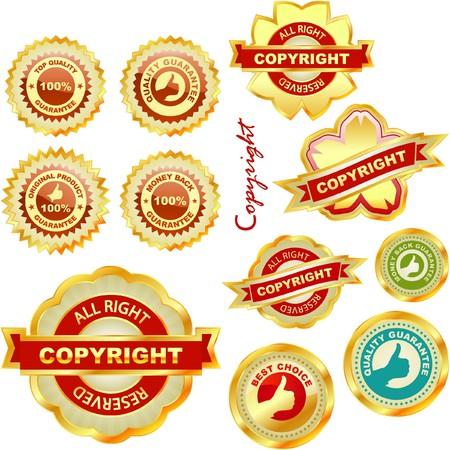 etiqueta de derecho de autor para la venta.