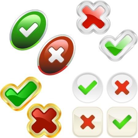 Botones aprobados y rechazados.