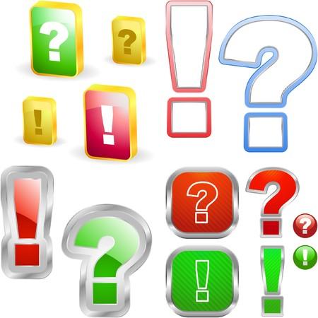 whose: Elementi esclamativo e domanda.  Vettoriali