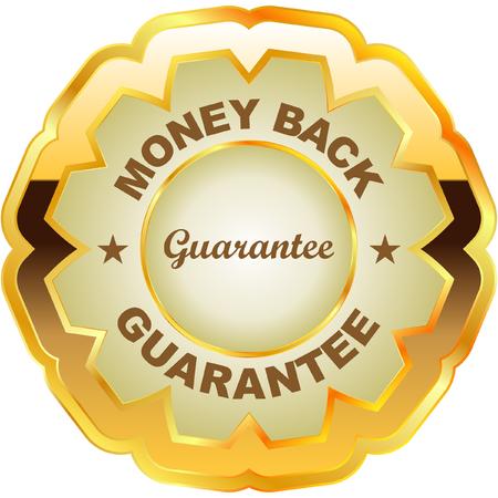 best seller: guarantee label.   Illustration