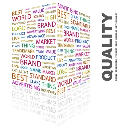 QUALITY. Word collage on white background.  illustration. Stock Vector - 7331313