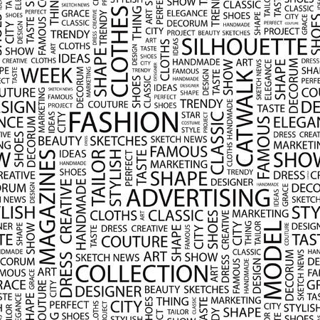 moda urbana: MODA. Fondo transparente. Ilustraci�n de la nube de Word.