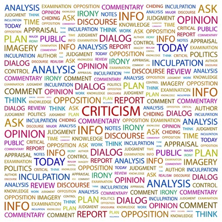 CRITICISM. Word collage on white background.  illustration. Stock Vector - 7341059