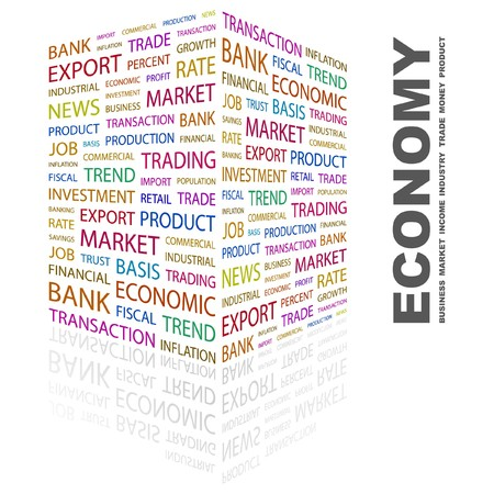 ECONOMY. Word collage on white background. illustration. Stock Vector - 7340701