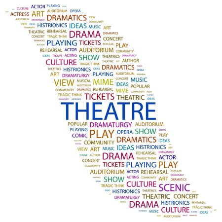 theatrics: THEATRE. Word collage on white background.  illustration.    Illustration