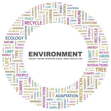 ENVIRONMENT. Word collage on white background. Stock Vector - 7346868
