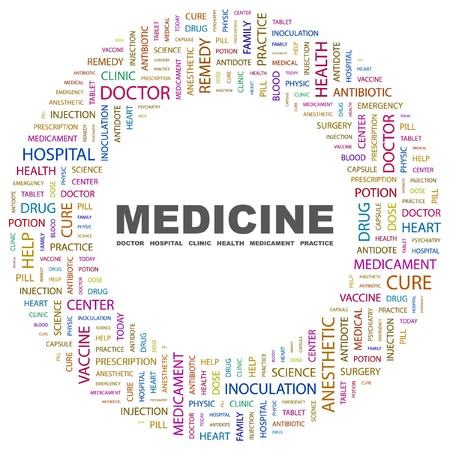 MEDICINE. Word collage on white background. Stock Vector - 7346881