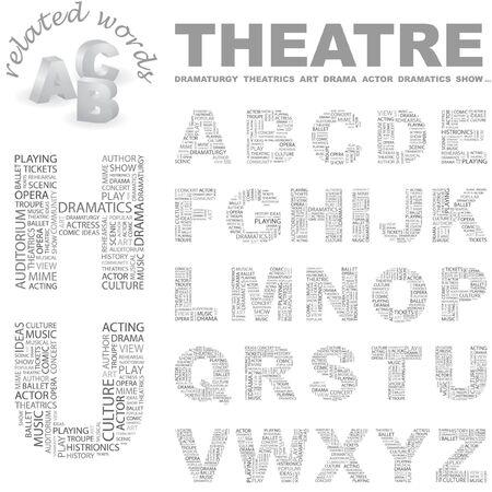THEATRE. Word cloud illustration.