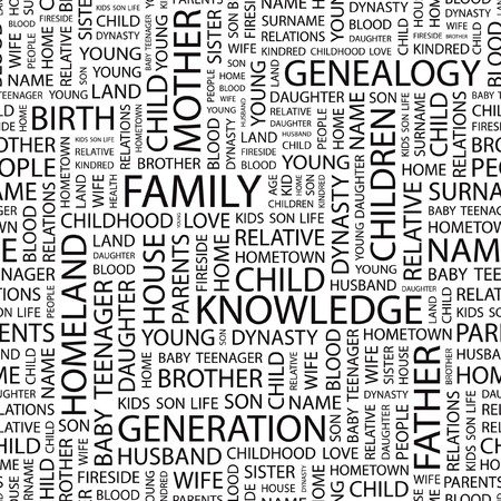 FAMILY. Word cloud illustration.   Vector