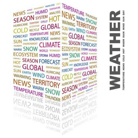 WEATHER. Word collage on white background. Stock Vector - 7347028