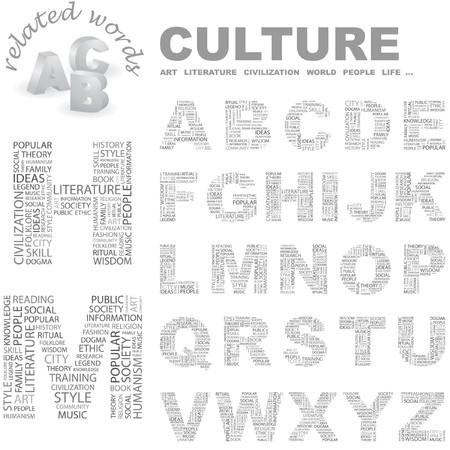 CULTURE. Word cloud illustration.   Vector