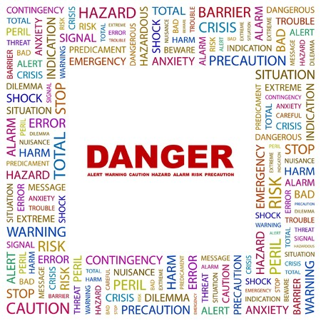 DANGER. Word collage on white background. Stock Vector - 7346668