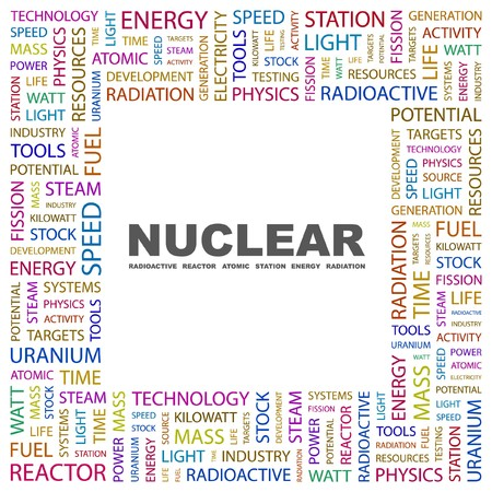 NUCLEAR. Word collage on white background. illustration.    Stock Vector - 7338010