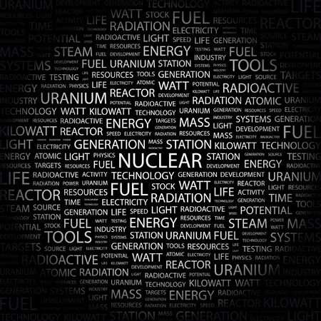 NUCLEAR. Word collage on black background.  illustration. Stock Vector - 7338647