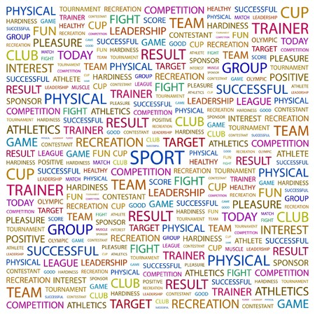 SPORT. Word collage on white background.  illustration. Stock Vector - 7341062