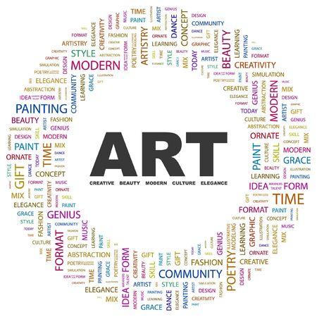 시뮬레이션: ART. Word collage on white background.  illustration.