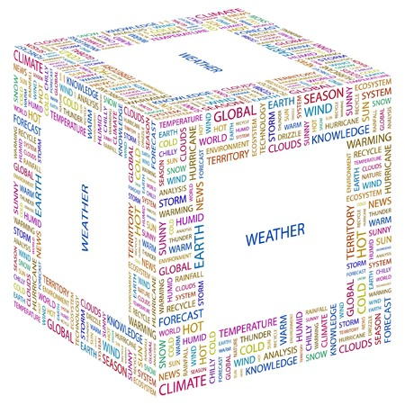 WEATHER. Word collage on white background. illustration. Stock Vector - 7355943