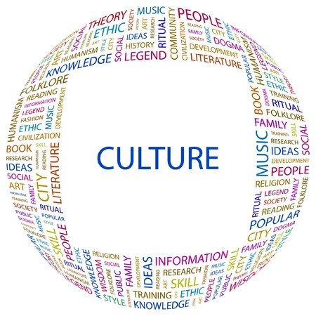 CULTURE. Word collage on white background illustration. Stock Vector - 7356611
