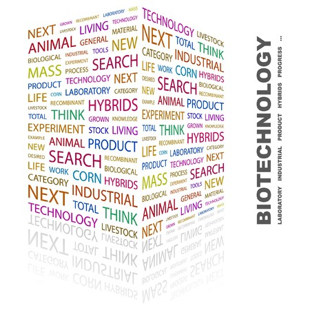 BIOTECHNOLOGY. Word collage on white background. illustration. Stock Vector - 7357223