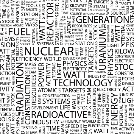 NUCLEAR. Seamless   pattern with word cloud. Stock Vector - 7356438