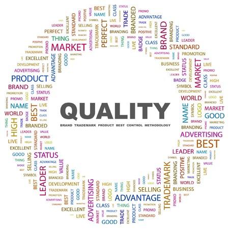 methodology: QUALITY. Word collage on white background.  illustration.    Illustration