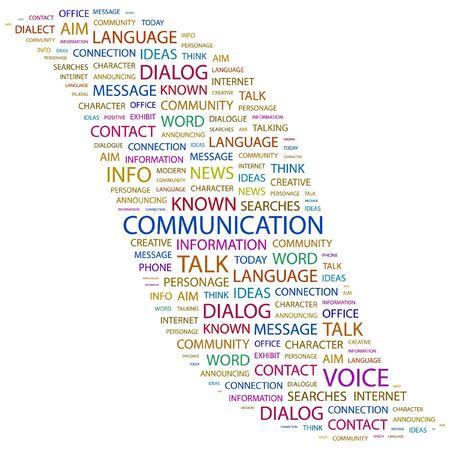 advisement: COMMUNICATION. Word collage on white background. illustration.    Illustration