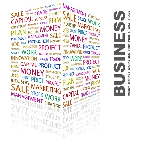BUSINESS. Word collage on white background.  illustration. Stock Vector - 7357216