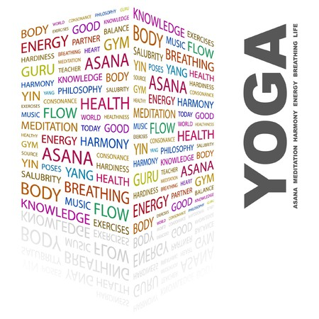 YOGA. Word collage on white background.  illustration. Stock Vector - 7357077