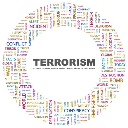 TERRORISM. Word collage on white background. illustration. Stock Vector - 7357060