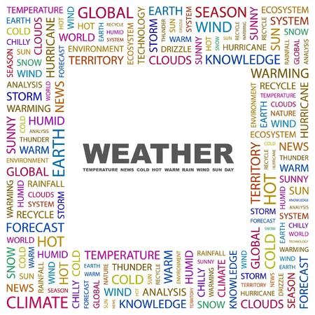 WEATHER. Word collage on white background. illustration. Stock Vector - 7355687