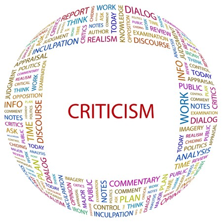 criticism: CRITICISM. Word collage on white background.  illustration.