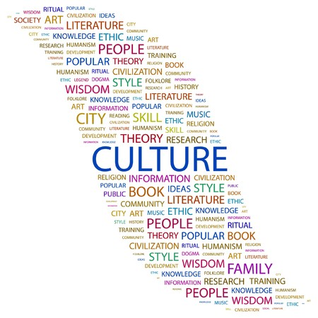 CULTURE. Word collage on white background. illustration. Stock Vector - 7355615