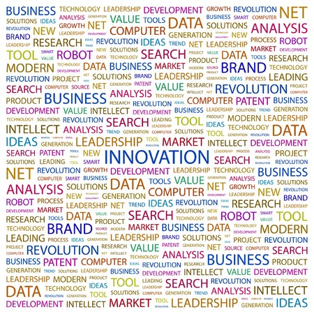 INNOVATION. Word collage on white background. illustration. Stock Vector - 7357285